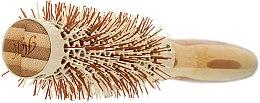 Klimafreundliche runde Bambusbürste - Olivia Garden Healthy Hair Eco-Friendly Bamboo Brush — Bild N2