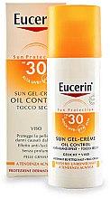 Düfte, Parfümerie und Kosmetik Sonnenschützende Gesichtsgel-Creme mit Anti-Glanz Effekt für fettige und zu Akne neigende Haut SPF 30 - Eucerin Sun Gel-Cream Oil Control SPF30