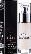 Düfte, Parfümerie und Kosmetik Revitalisierende Augencreme mit Goldpartikeln und Arganöl - Hristina Cosmetics Sayaz Gold Particles and Argan Oil Revitalizing Eye Cream 24H