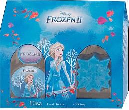 Düfte, Parfümerie und Kosmetik Disney Frozen II Elsa Gift Set - Duftset für Mädchen (Eau de Toilette 50ml + Seife 50g)