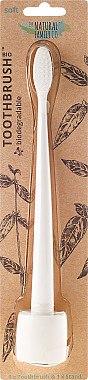 Zahnbürste mit Ständer weich weiß - The Natural Family Co Bio Brush & Stand Ivory Desert — Bild N1