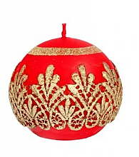 Düfte, Parfümerie und Kosmetik Dekorative Kerze in Kugelform rot 10 cm - Artman Koronka Lace Christmas