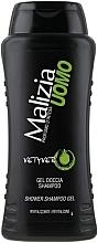 Düfte, Parfümerie und Kosmetik 2in1 Shampoo-Duschgel - Malizia Vetyver Uomo