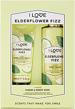 Düfte, Parfümerie und Kosmetik Körperpflegeset - I Love Signature Hand & Body Duo Elderflower Fizz (Hand- und Nagelcreme 100ml + Duschgel 360ml)