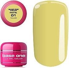 UV Nagelgel gelb - Silcare Base One Color Pastel — Bild N2
