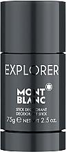 Düfte, Parfümerie und Kosmetik Montblanc Explorer - Deostick Antitranspirant