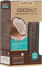 Düfte, Parfümerie und Kosmetik Revitalisierendes Haaröl mit Kokosnuss für mehr Glanz - Kativa Coconut Reconstruction Oil