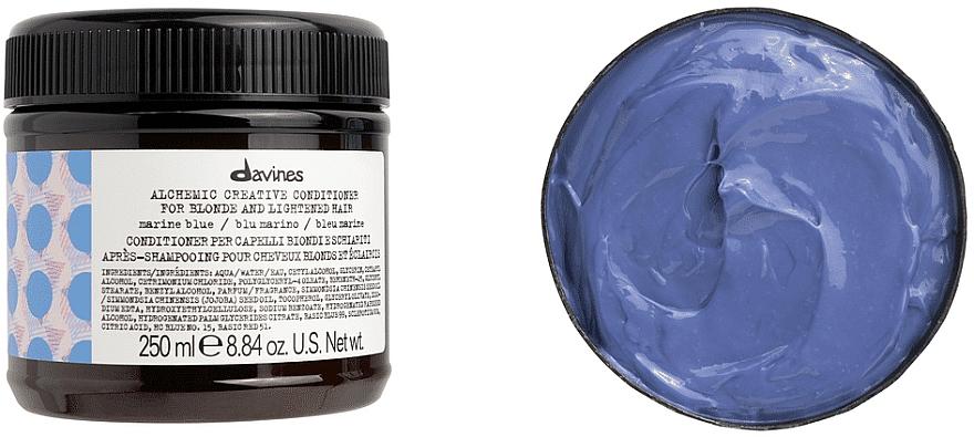 Conditioner für natürliches und gefärbtes Haar (Meereswelle) - Davines Alchemic Conditioner Marine Blue — Bild N2