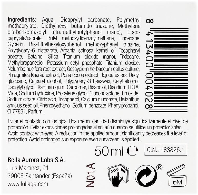 Sonnenschutzfluid für das Gesicht gegen Rötungen SPF 50+ - Lullage RougeXpert Rojeces-Piel Sensible Fluido Solar SPF50+ — Bild N3
