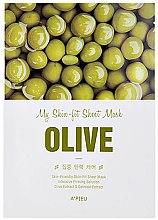 Düfte, Parfümerie und Kosmetik Intensiv straffende Tuchmaske für das Gesicht mit Olivenextrakt - A'pieu My Skin-Fit Sheet Mask Olive