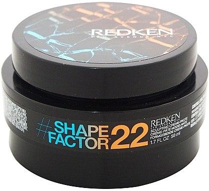 Formgebende Creme-Paste für das Haar - Redken Flex Shape Factor 22 Sculpting Cream Paste — Bild N1