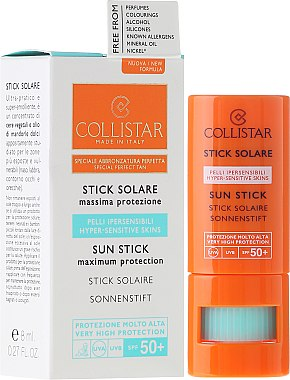 Sonnenschutz-Stick für empfindliche Bereiche SPF 30 - Collistar Sun Stick SPF 50+ — Bild N4