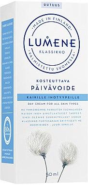 Feuchtigkeitsspendende Tagescreme mit arktischer Baumwolle und arktischem Quellwasser - Lumene Klassikko Day Cream