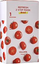 Düfte, Parfümerie und Kosmetik 2-Stufige Tuchmaske für das Gesicht mit Tomate - Village 11 Factory Refresh 2-Step Mask Red