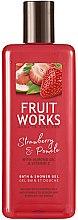 Düfte, Parfümerie und Kosmetik Bade- und Duschgel mit Erdbeere und Pampelmuse - Grace Cole Fruit Works Hand Wash Strawberry & Pomelo