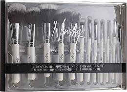 Düfte, Parfümerie und Kosmetik Make-up Pinselset 12-tlg. - Nanshy Masterful Collection Pearlescent White
