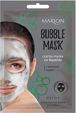 Sprudelnde Gesichtsmaske mit Aktivkohle und Schwarztee-Extrakt - Marion Detox Bubble Sheet Mask — Bild N1