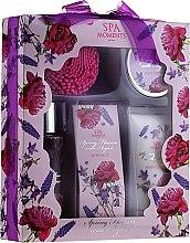 Düfte, Parfümerie und Kosmetik Körperpflegeset - Spa Moments Spring Flowers With Argan (Duschgel 100ml + Körperlotion 60ml + Körperbutter 50ml + Badesalz 50g)