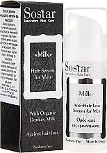 Düfte, Parfümerie und Kosmetik Haarserum für Männer gegen Haarausfall mit Bio Eselsmilch - Sostar Donkey Milk Men Anti-Hair Loss Serum