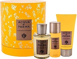 Düfte, Parfümerie und Kosmetik Acqua Di Parma Colonia Intensa - Duftset (Eau de Cologne 100ml + Duschgel 75ml + Deodorant 50ml)