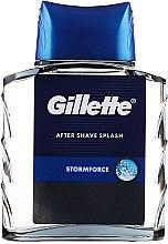 After Shave Lotion - Gillette Blue Storm Force After Shave Splash — Bild N3