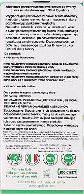 Anti-Aging Gesichtsserum mit Hyaluronsäure und Aloe Vera - Equilibra Aloe Line Serum — Bild N4