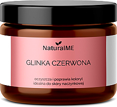 Düfte, Parfümerie und Kosmetik Natürlicher kosmetischer roter Ton für Kapillarhaut - NaturalME