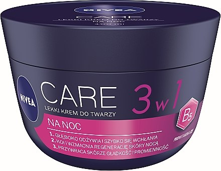 3in1 Leichte Gesichtscreme für die Nacht - Nivea Care Night Light Face Cream — Bild N1