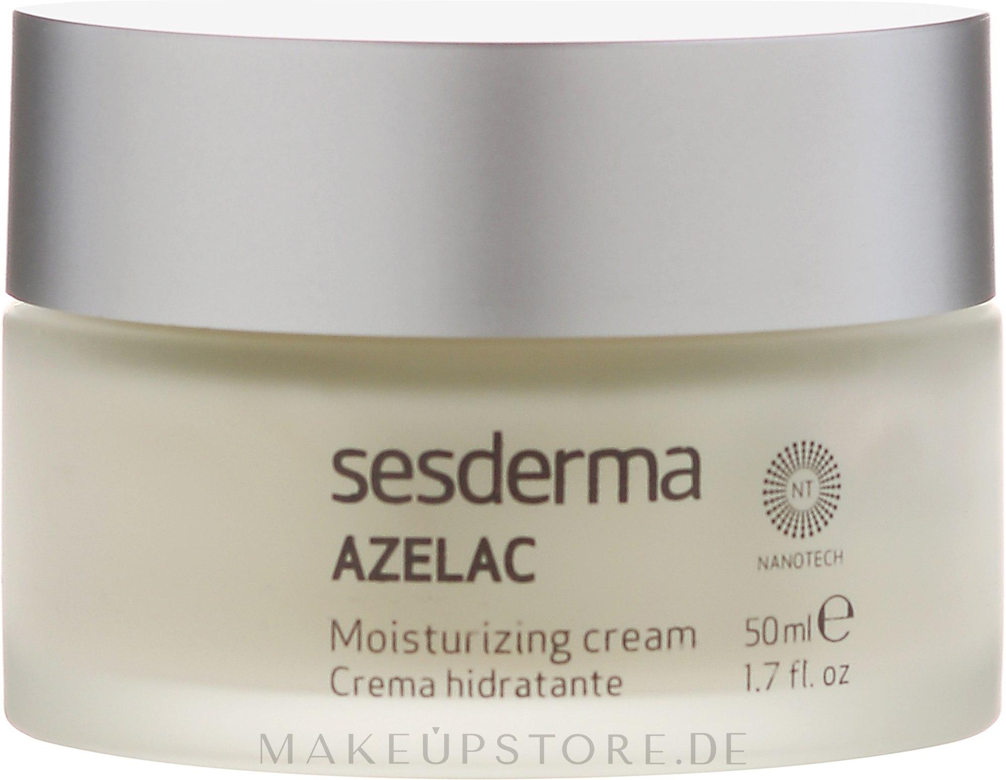 Feuchtigkeitsspendende Gesichtscreme - SesDerma Laboratories Azelac Moisturizing Cream — Bild 50 ml