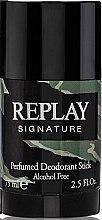 Düfte, Parfümerie und Kosmetik Replay Signature For Men Replay - Parfümierter Deostick