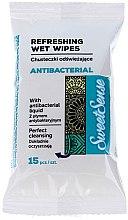 Düfte, Parfümerie und Kosmetik Antibakterielle Feuchttücher 15 St. - Sweet Sense Antibacterial Wipes
