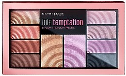 Düfte, Parfümerie und Kosmetik Lidschatten- und Highlighter-Palette - Maybelline Total Temptation Eyeshadow + Highlight Palette