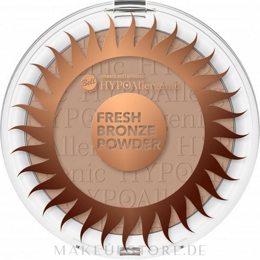 Hypoallergener Bräunungspuder - Bell Fresh Bronze Powder HypoAllergenic — Bild 02 - Beige