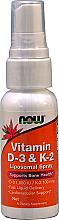 Düfte, Parfümerie und Kosmetik Nahrungsergänzungsmittel Vitamin D-3 & K-2 Liposomenspray - Now Foods D3 & K2 1000Iu/100mcg Spray