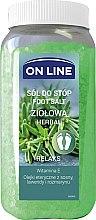 Düfte, Parfümerie und Kosmetik Entspannendes Fußbadesalz mit Vitamin E und Kräutern - On Line Herbal Foot Salt