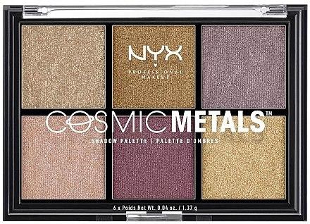 Lidschattenpalette - NYX Professional Makeup Cosmic Metals Shadow Palette