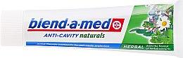 Zahnpasta Anti-Cavity Naturals Herbal - Blend-a-med Anti-Cavity Herbal Natural — Bild N2
