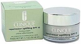 Düfte, Parfümerie und Kosmetik Intensiv festigende und straffende Anti-Aging Tagesreme für trockene, fettige und Mischhhaut SPF 15 - Clinique Repairwear Uplifting Cream SPF15