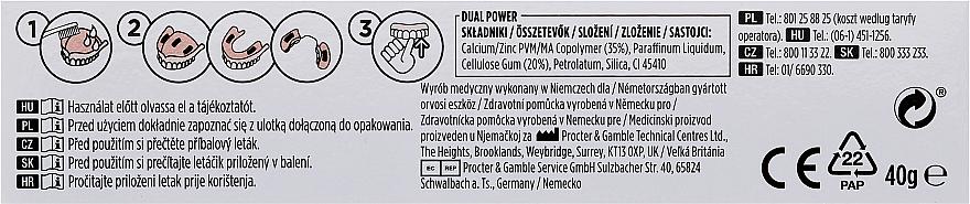 Haftcreme für Voll- und Teilprothesen - Blend-A-Dent Premium Adhesive Cream Plus Dual Power Light Mint — Bild N3