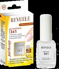 Düfte, Parfümerie und Kosmetik 3in1 Nagelkomplex zum Trocknen, Beschichten und Glänzen - Revuele Nail Therapy