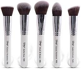 Düfte, Parfümerie und Kosmetik Make-up Pinselset 5-tlg. - Nanshy Face Brush Set White