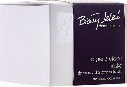Pflegende und regenerierende Gesichtsmaske - Bialy Jelen Dermo Natura — Bild N1