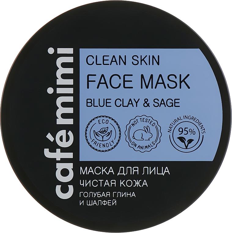 Reinigende Gesichtsmaske mit blauer Tonerde und Salbei - Cafe Mimi Clean Skin Face Mask — Bild N1