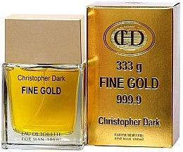 Düfte, Parfümerie und Kosmetik Christopher Dark Fine Gold - Eau de Toilette