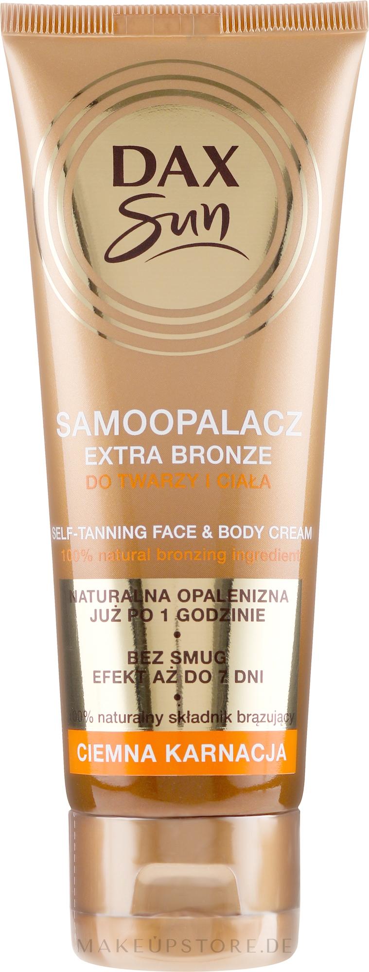 Autobronzante für dunkle Haut - DAX Sun Extra Bronze Dark Skin Self-Tanning Cream — Bild 75 ml