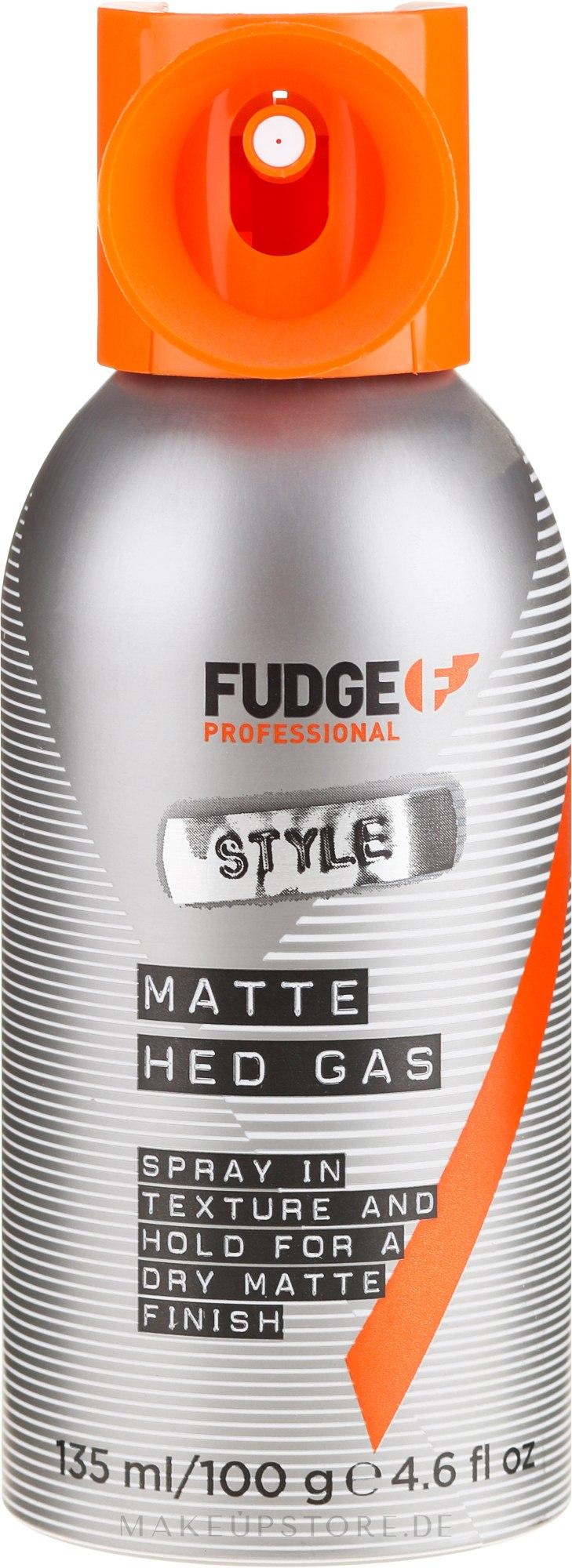 Mattierender Fixier-Haarlack - Fudge Matte Hed Gas Mattes Spray — Bild 100 g