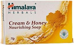 Nährende Seife mit Honig und Milch für normale und trockene Haut - Himalaya Herbals Cream Honey Soap — Bild N1