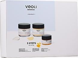 Düfte, Parfümerie und Kosmetik Gesichtspflegeset - Veoli Botanica 3 Steps Daily Routine (Nachtcreme für das Gesicht 60ml + Gesichtscreme 60ml + Augencreme 15ml)
