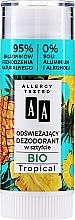 Düfte, Parfümerie und Kosmetik Erfrischender Deostick mit tropischem Duft - AA Bio Tropical Deodorant Stick