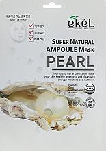 Düfte, Parfümerie und Kosmetik Feuchtigkeitsspendende Tuchmaske für das Gesicht mit Perlenextrakt - Ekel Super Natural Ampoule Mask Pearl